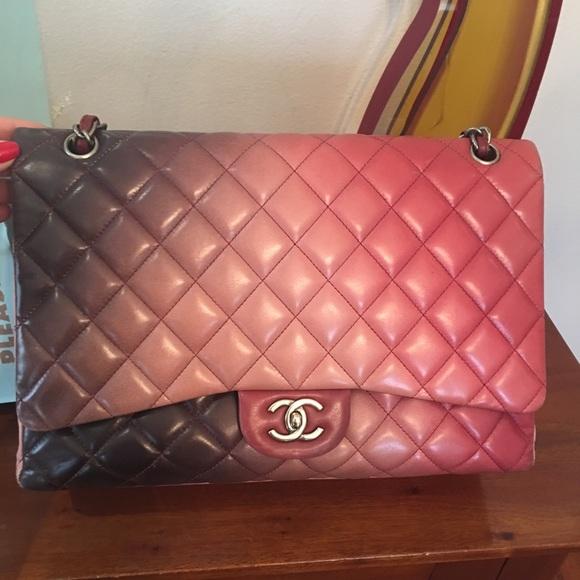 3bcc8b2b904a52 CHANEL Handbags - Authentic RARE Chanel Lambskm Ombré Maxi Flap